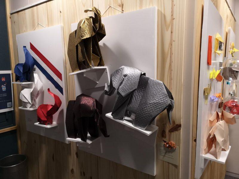 Exposition Éléphantesque Origami au Bureau Consulaire du Japon à Lyon